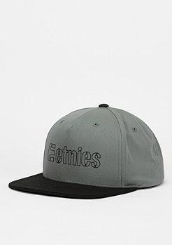 Snapback-Cap Corporate 5 grey/black
