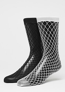 Fishnet black/white