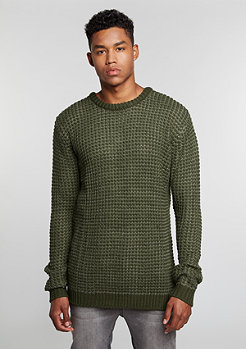 Sweatshirt Knit Crew olive/dark olive