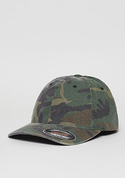 Baseball-Cap Garment Washed green camo