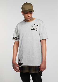T-Shirt Layering heather grey/olive/black