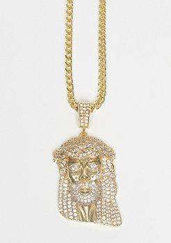 Kette CZ Jesus Piece gold