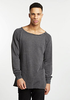 Sweatshirt Long Burnout Open Edge dark grey