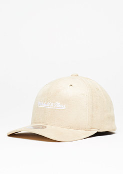 Baseball-Cap 110 Script Poly Suede sand/white