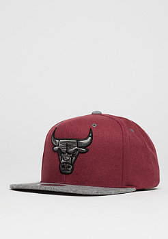 Snapback-Cap Melton Contrast NBA Chicago Bulls red