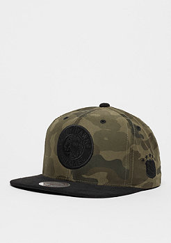 Snapback-Cap Black Suede NHL Chicago Blackhawks camo