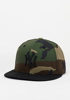 Snapback-Cap Camo Crown 950 MLB New York Yankees USMC woodland camo