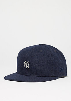 Fitted-Cap 59Fifty Melton Metal Logo MLB New York Yankees navy
