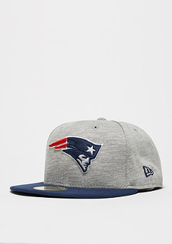 New Era Fitted-Cap 59Fifty Team Jersey Crown NFL New England Patriots grey/team