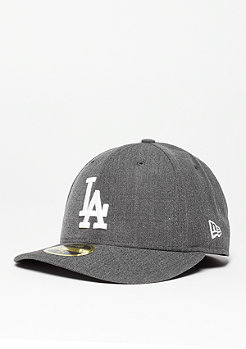 Fitted-Cap Low Crown 59Fifty MLB Los Angeles Dodgers heather grey/white
