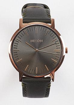 Uhr Porter Leather rose gold/gunmetal/surplus