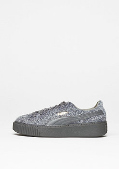Schuh Suede Platform Elemental steel grey/steel grey
