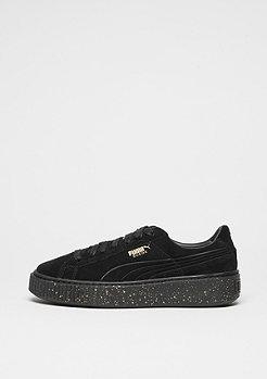 Schuh Suede Platform Speckle black/black/gold