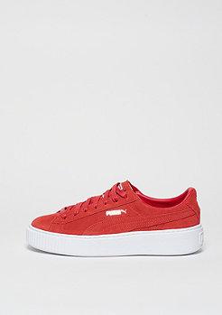 Schuh Suede Platform barbados cherry/puma white