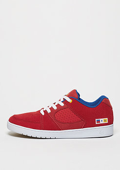 Skateschuh Accel Slim red/blue/white