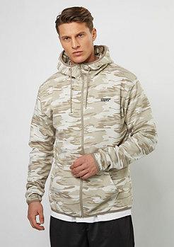 SNIPES Hooded-Zipper D. Camo beige/brown/grey