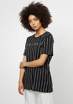 SNIPES T-Shirt Pinstripe black/white