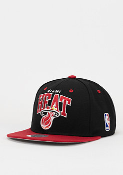Snapback-Cap Team Arch NBA Miami Heat black