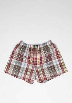 Boxershort Plaid red/yellow