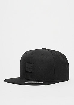 Snapback-Cap Leatherpatch black/black