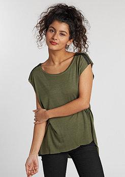 T-Shirt Shoulder Zip HiLo olive