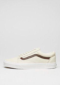 Skate Schuh Old Skool Leather blanc de blanc/potting soil