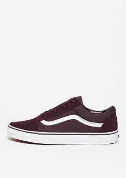 VANS Skateschuh Old Skool Suede Canvas iron brown/true white