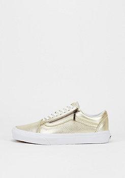 Skateschuh Old Skool Zip Metallic Leather wheat gold/true white