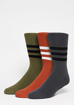 Fashionsocke Thin Crew Stripes 2PP