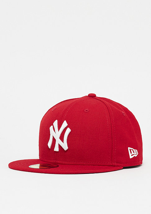 New Era Fitted-Cap 59Fifty Basic MLB New York Yankees scarlet