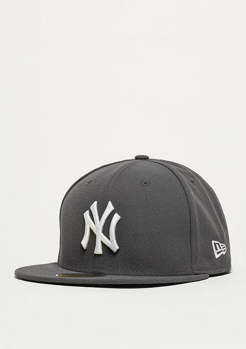 New Era Fitted-Cap 59Fifty Basic MLB New York Yankees graphite