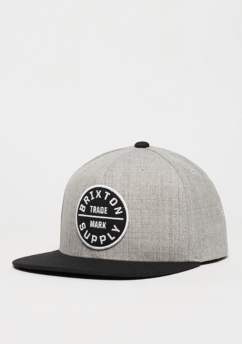 Brixton Snapback-Cap Oath III light heather grey/black