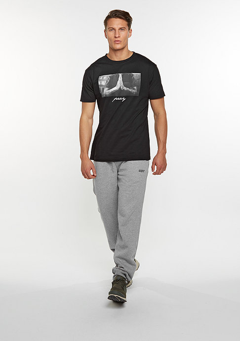 SNIPES Trainingshose Logo heather grey