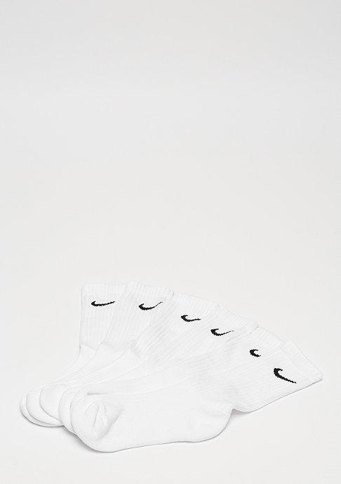 NIKE Value Cotton Crew 3Pack white/black