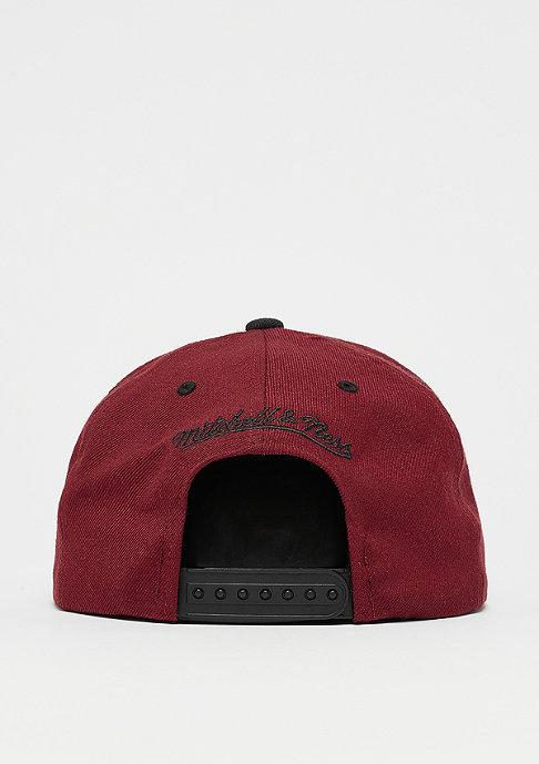 Mitchell & Ness Snapback-Cap Box Logo burgundy/black