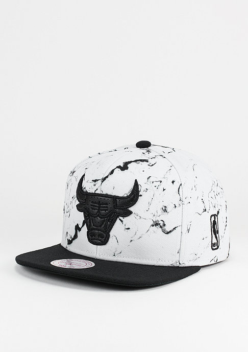 Mitchell & Ness Snapback-Cap Marble Logo NBA Chicago Bulls white