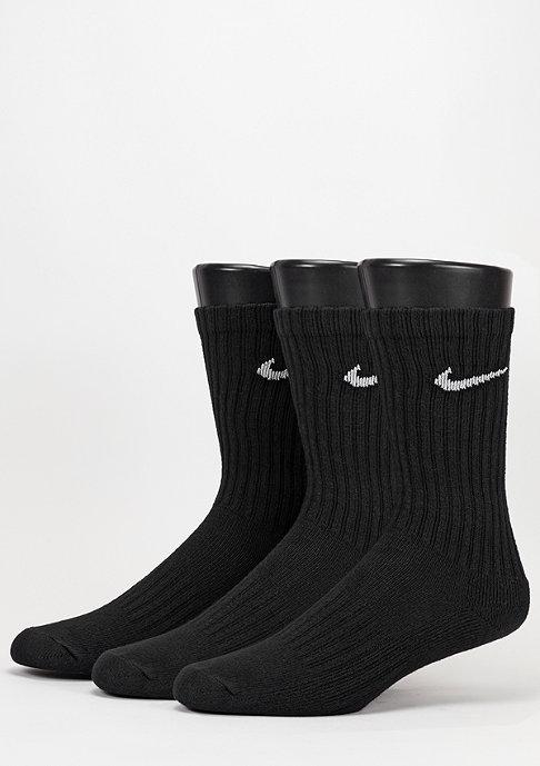NIKE Sport-Socke Value Cotton Crew 3Pack black/white