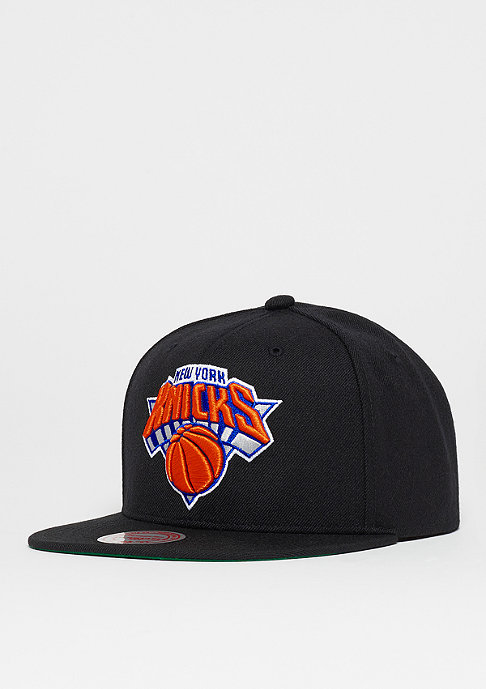 Mitchell & Ness Snapback-Cap Wool Solid NBA New York Knicks black