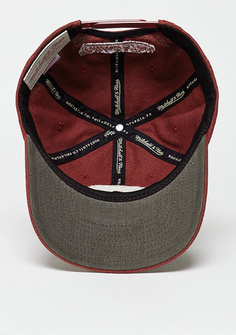 Mitchell & Ness Snapback-Cap Linen Slouch red