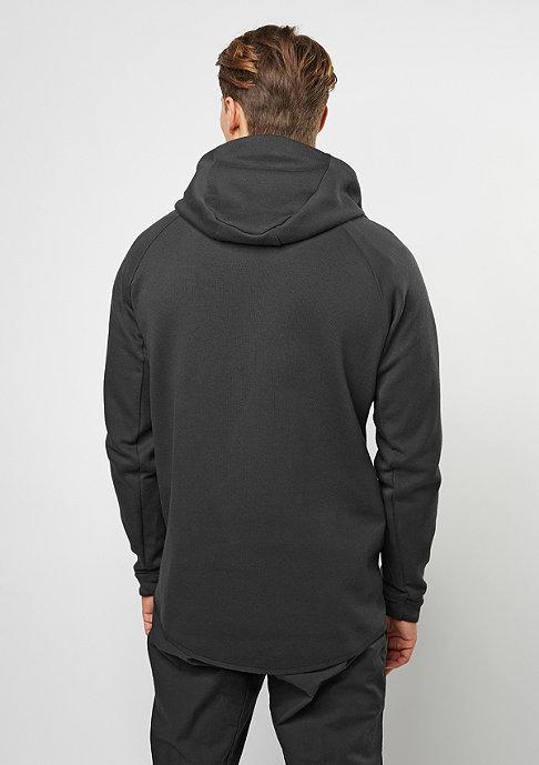 NIKE Übergangsjacke Tech Fleece Windrunner Hoodie black/black
