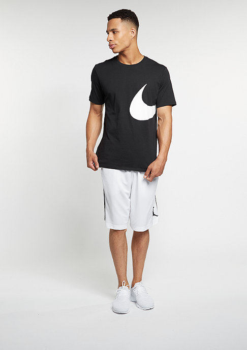 NIKE Oversize Swoosh black/black/white