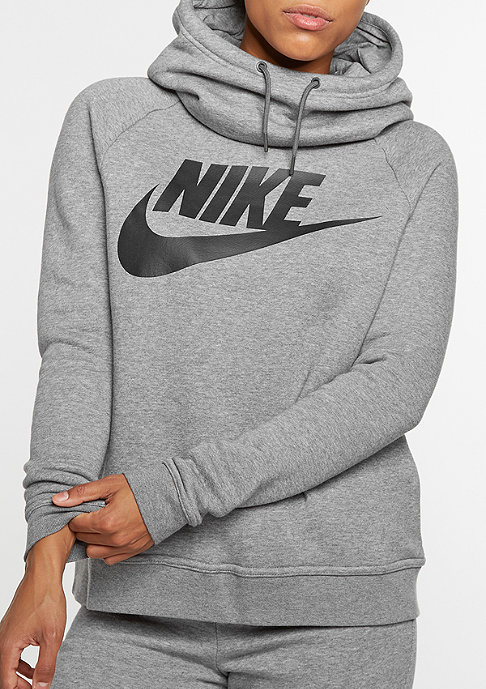 NIKE Hooded-Sweatshirt Ralley GFX1 carbon heather/dark grey/black