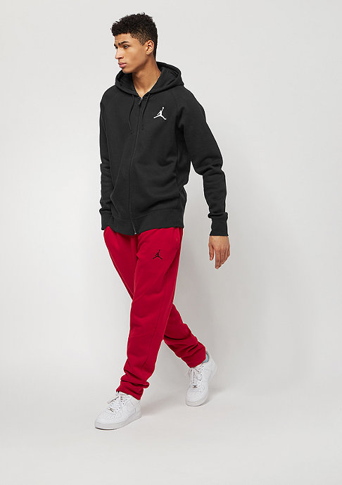 JORDAN Hooded-Zipper Flight Fleece Full-Zip black/white