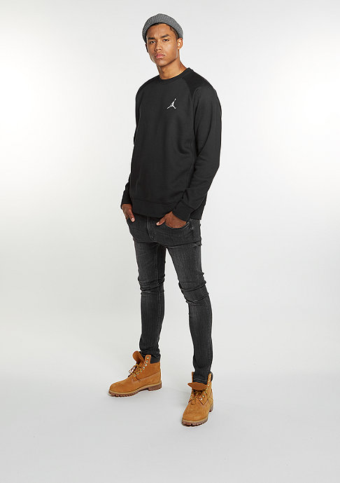JORDAN Sweatshirt Flight Fleece black/white