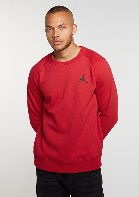JORDAN Sweatshirt Flight Fleece gym red/black