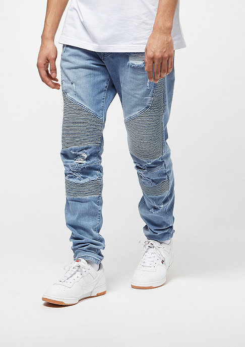 Cayler & Sons Biker Denim Pants distressed light blue