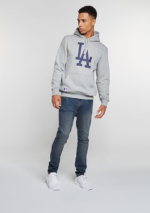 New Era Hooded-Sweatshirt MLB Los Angeles Dodgers light grey heather