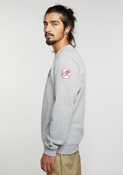 New Era Sweatshirt MLB New York Yankees light grey heather