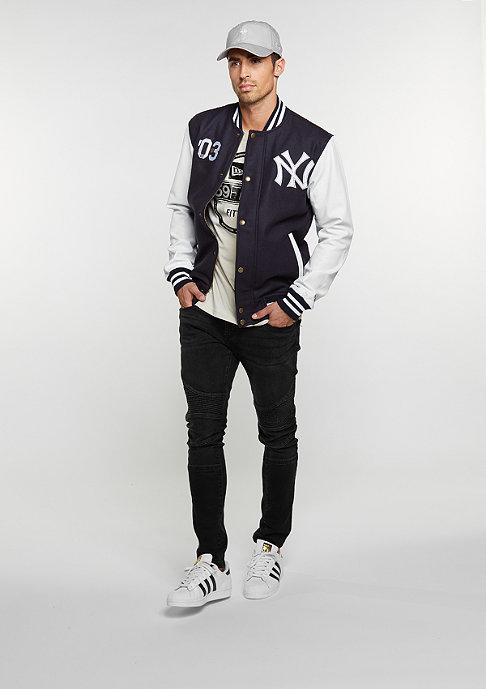 New Era Übergangsjacke Cooperstown Letterman Jacket MLB New York Yankees navy