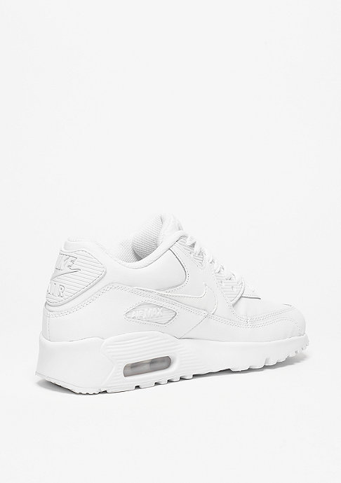 NIKE Schuh Air Max 90 Leather white/white (GS)